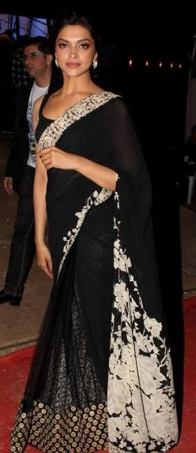 Deepika Padukone Style Saree | More collection of Celebrity #Saree Collection @ www.prafful.com