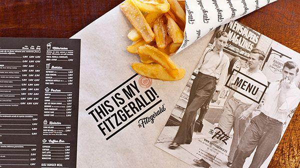 The Fitzgerald Burger Company. Global identity. by Pixelarte, via Behance