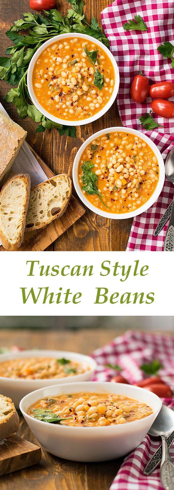 tuscan style white beans | thehungrybites.com