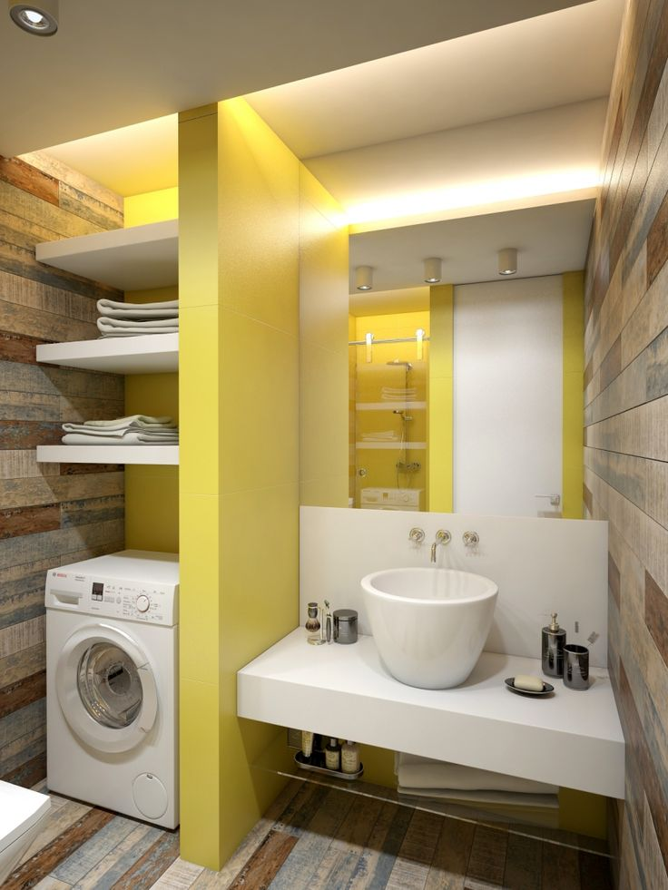 Интерьер, Ванная,  лофт,маленькая квартира,однокомнатная квартира,подиум,скандинавский стиль,