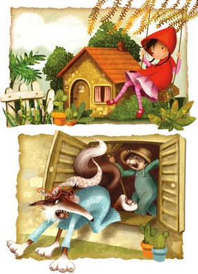 Littel red Riding Hood - Le petit Chaperon Rouge - Valeria Docampo