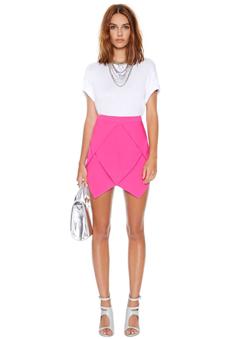 Free Shipping 2014 fashion Pleated ruched neon back zipper bust skirt short skirt -inSkirts from Women's Clothing & Accessories on Aliexpress.com | Alibaba Group: