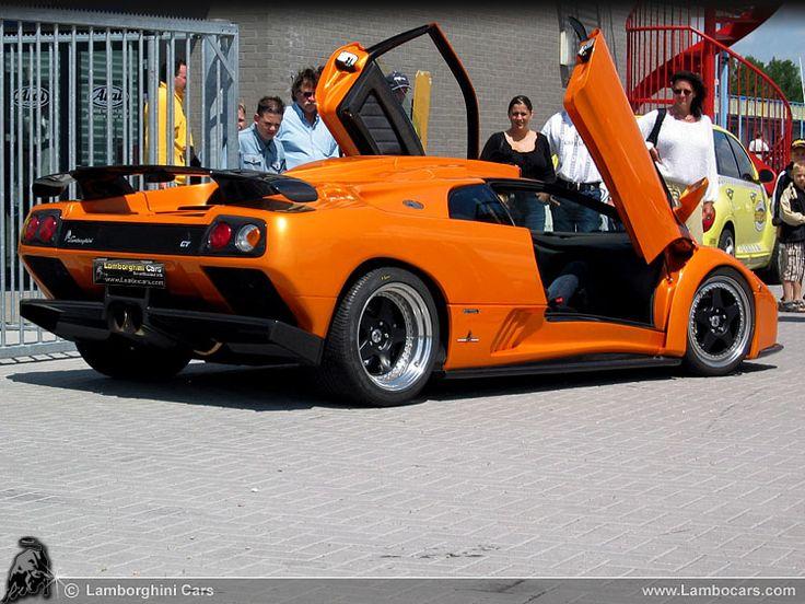 The Impressive Lamborghini Diablo GT Seen From The Rear, Note The Massive  Diffusor And Rear Wing .