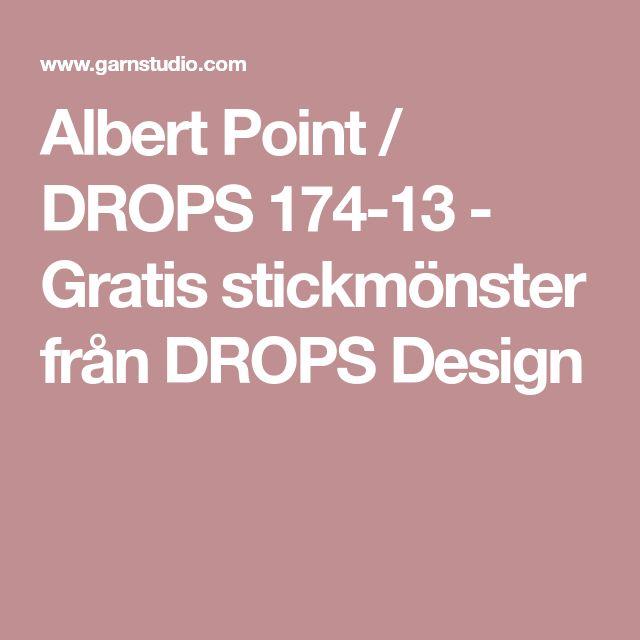 Albert Point / DROPS 174-13 - Gratis stickmönster från DROPS Design