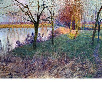 エミール・クラウス「冬の果樹園」1911年 大原美術館