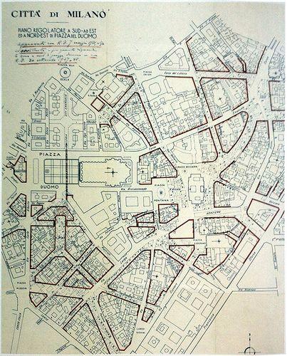 1931, nuovo piano regolatore per la zona di San Babila Duomo | da Milàn l'era inscì