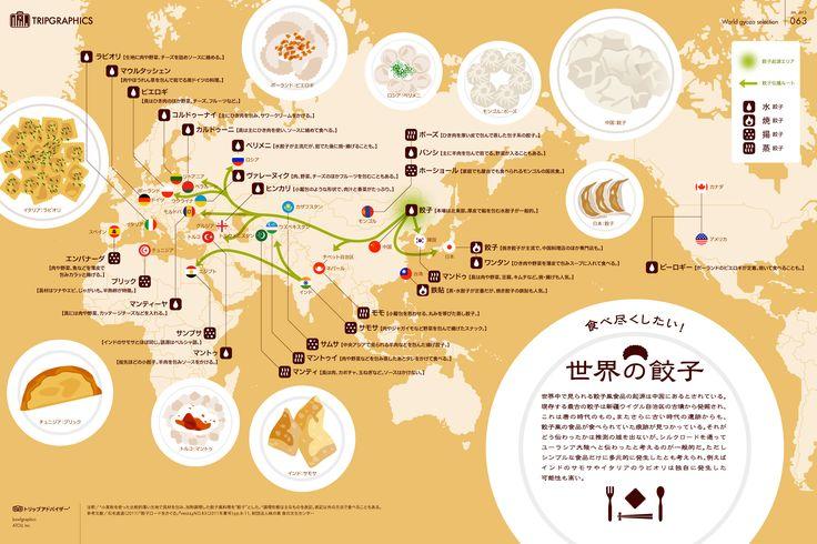 食べ尽くしたい! 世界の餃子 トリップアドバイザーのインフォグラフィックスで世界の旅が見える