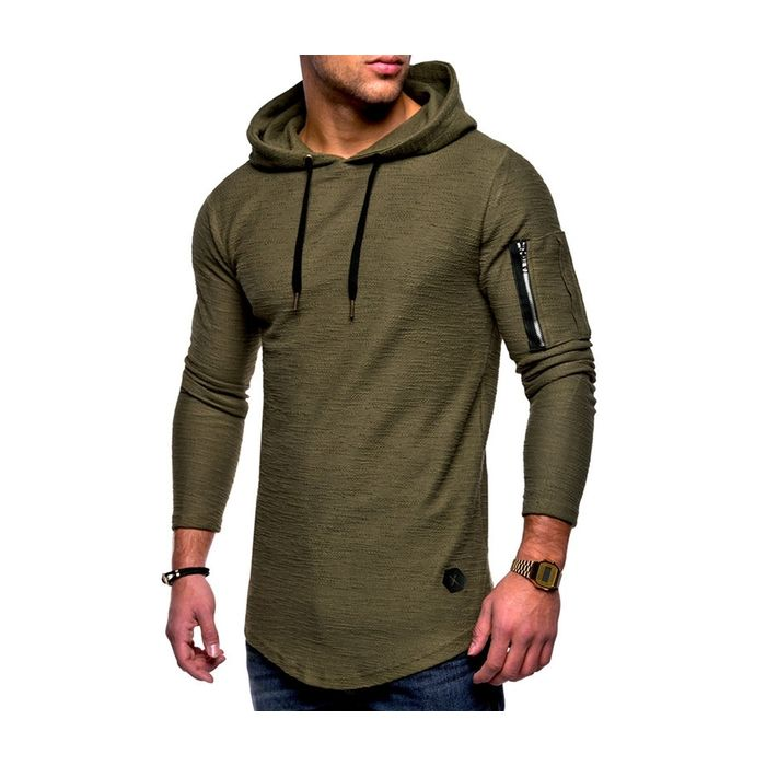Men/'s Gothic Pullover Tops Hooded Irregular Hem Autumn Long Sleeve Blouse Shirts