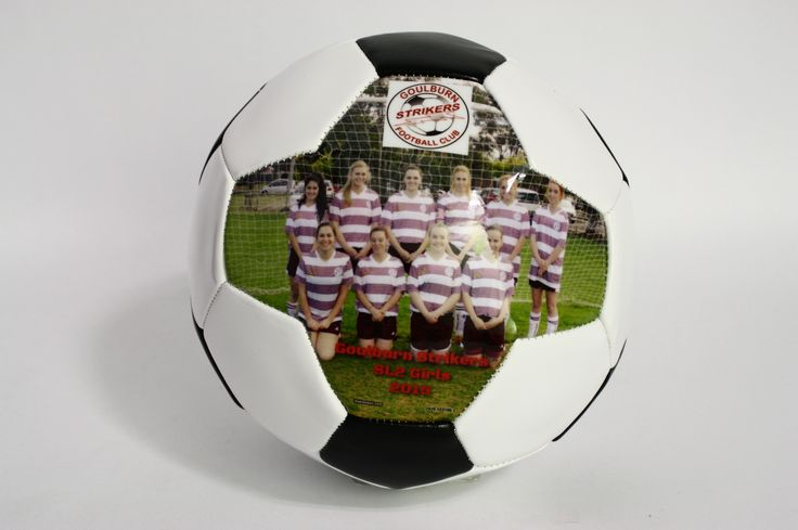 Capture the smile of your beloved team and have the picture printed on high quality soccer ball. Perfect gifts for teams, coaches and soccer players.