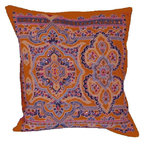 BLING BLING - orange,cross stitch pattern for cushion