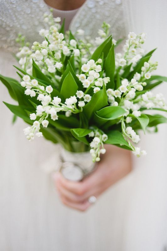 Simple bouquet of Lilly of the Valley by The Wild Bunch Floral Design photographed by Ashlee Taylor www.taylorbarnesphotography.co.uk