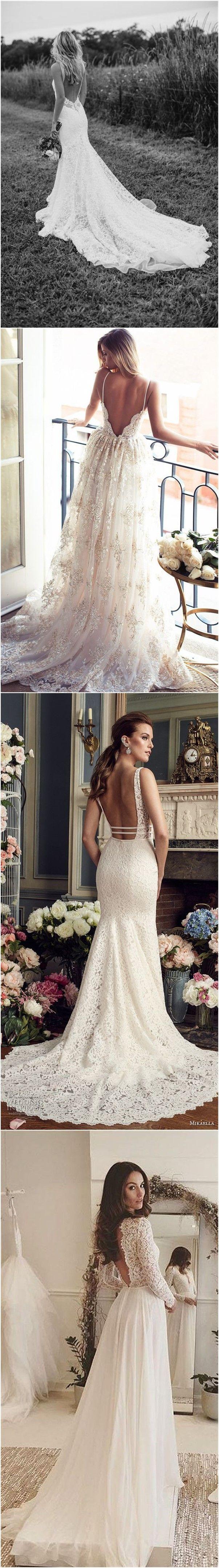 Wedding Dresses » 34 Stunning Open Back Wedding Dresses That Wow