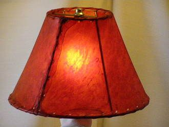 Red Rawhide Lamp Shade 12""""