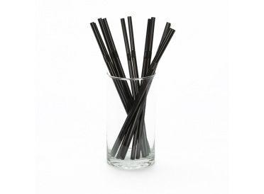 Black Flexible Plastic Drinking Straws  | Whish.ca