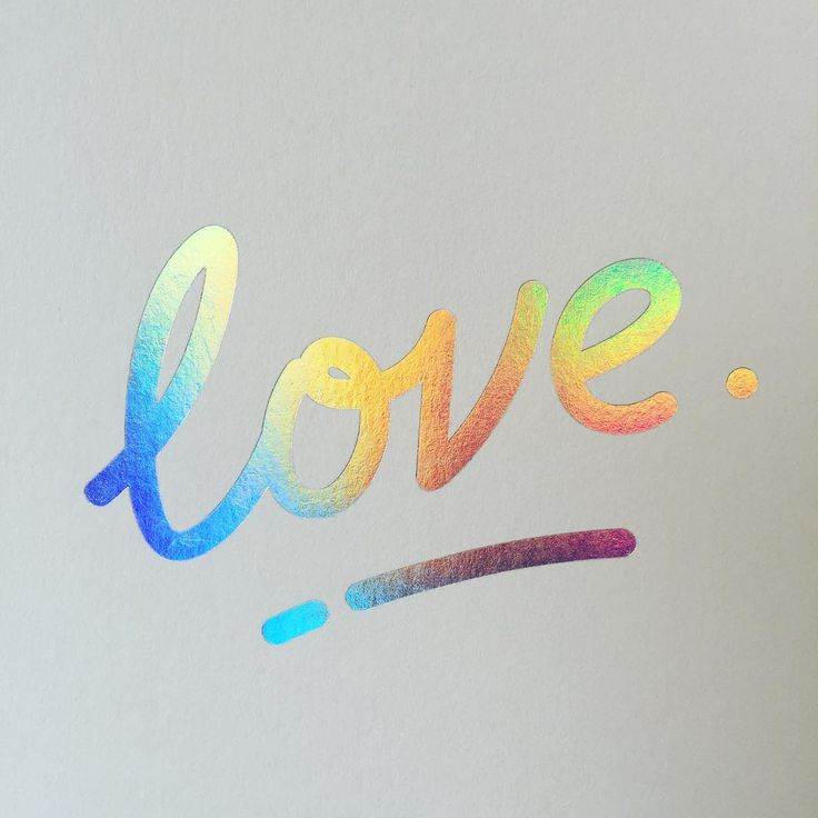 #LoveWins ❤️ - Rainbow foil hand-printed by Jot Paper Co.