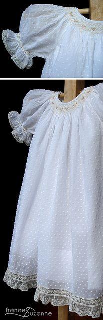 Vestido blanco para niña, hermoso