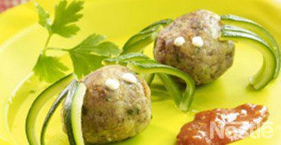 Arañitas de carne y queso #recetas I ♥ #Dialhogar  http://pinterest.com/dialhogar/  ❥ http://dialhogar.blogspot.com.es/