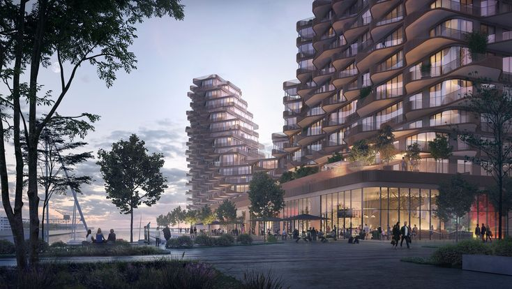 Gallery of 3XN Reveals Waving Mixed-Use Building Located Adjacent to Sidewalk Labs' Future Smart City - 1