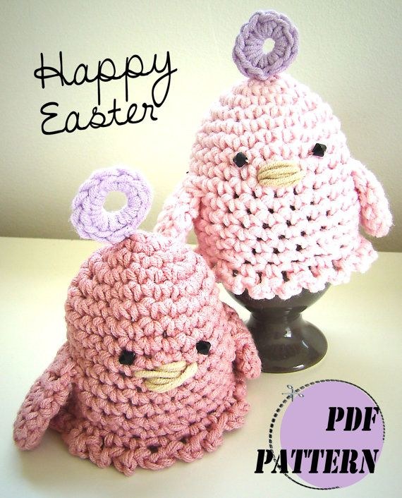Easter Egg Cosy Crochet PDF Pattern by CharmyKawaii on Etsy