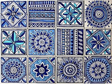 painted tile designs. Jocelyn Proust Designs, Pattern Design, Hand Painted Tiles | Wall Tile Designs U
