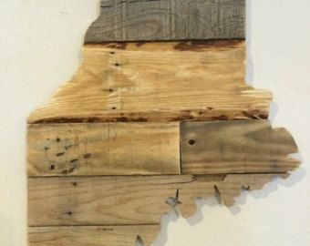 Maine state pallet sign