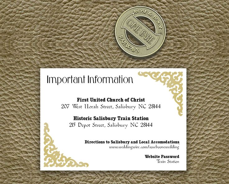 The updated information card for our Train Ticket suite now available as a print-your-own on Etsy!  Printable Wedding Invitation-Train Ticket, Train Station, Train, Ticket, Wedding Invitation, Invitation Suite, Wedding Invite