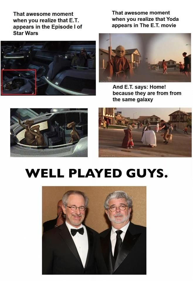 """The """"E.T. and Star Wars happen in the same universe"""" theory: 