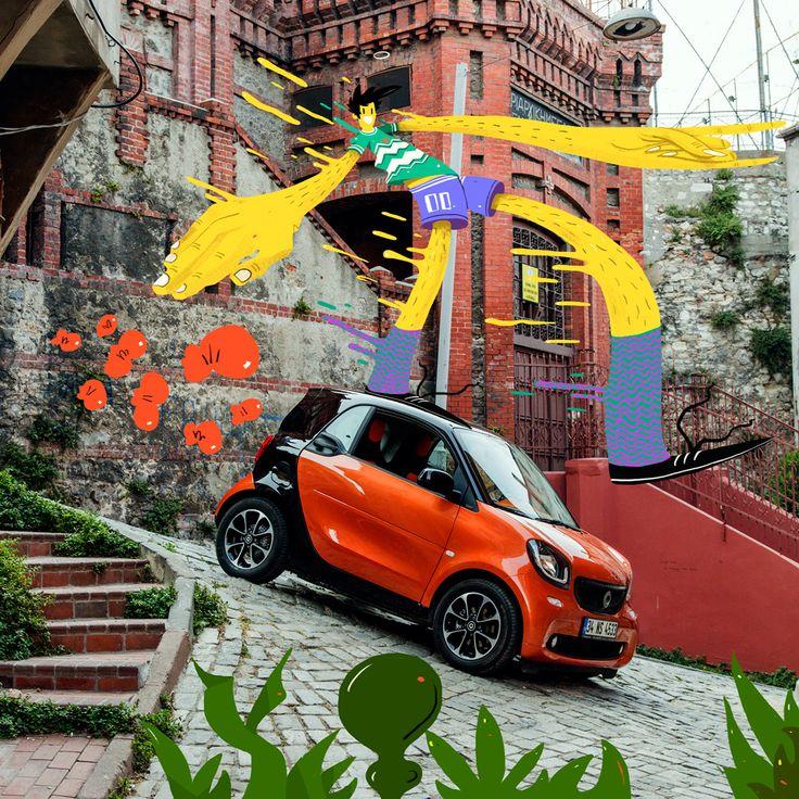 Mercedes Smart - Concept Illustrations on Behance