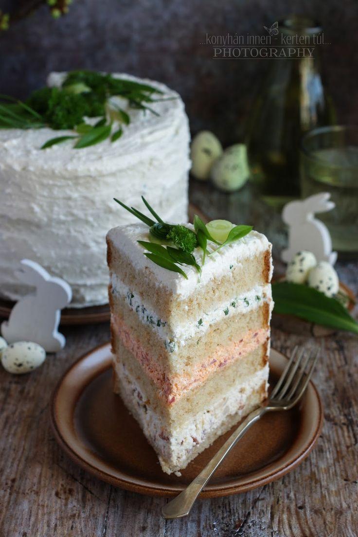 Régóta terveztem, hogy sós tortát készítek. Az ilyesfajta torta olyan, akár egy szendvics. Reggelire, uzsonnára és vendégvárónak...