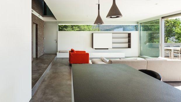 betonvloer met trap