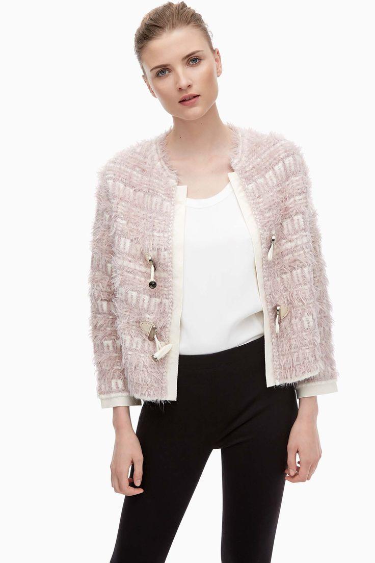 Tweed Chunky Knit Jacket - woman | Adolfo Dominguez shop online