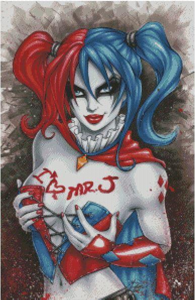 Harley Quinn Cross Stitch Pattern by rhothgar on Etsy