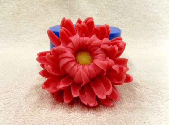 Chrysanthème - moule en silicone pour savon et des bougies, faire le moule moules fleur moule à savon