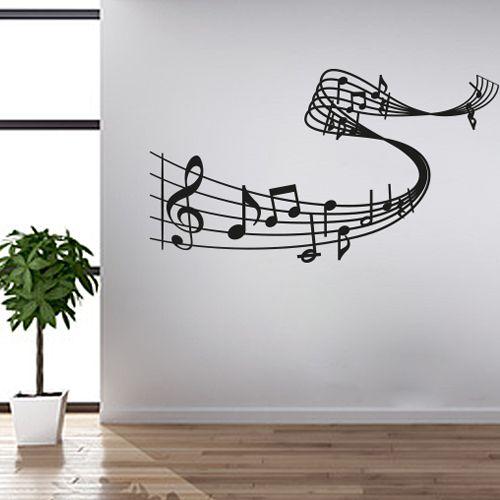 Elegant Wandtattoo Musik