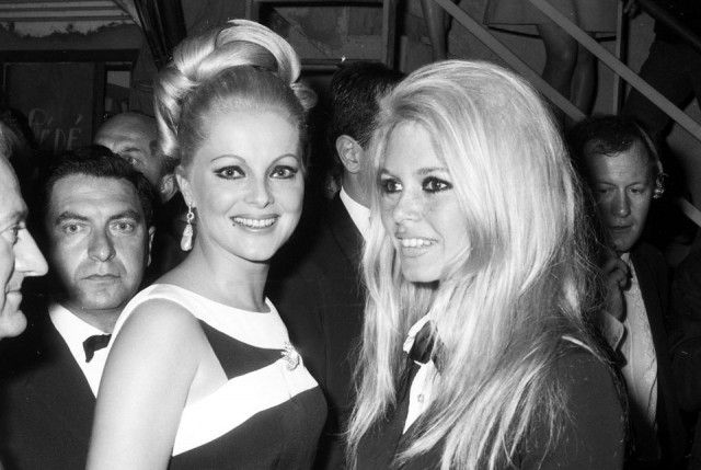 Virna Lisi and BB, Cannes 1967