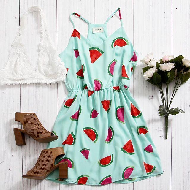 Keep it playful with a watermelon print dress!