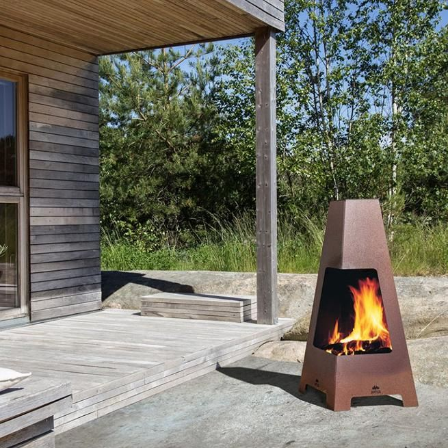 Jøtul Terrazza Outdoor Fireplace Backyard Fireplace Outdoor Fireplace Outdoor Living