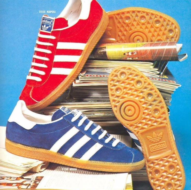 Napoli and Athen from a 1977 Japanese adidas brochure..
