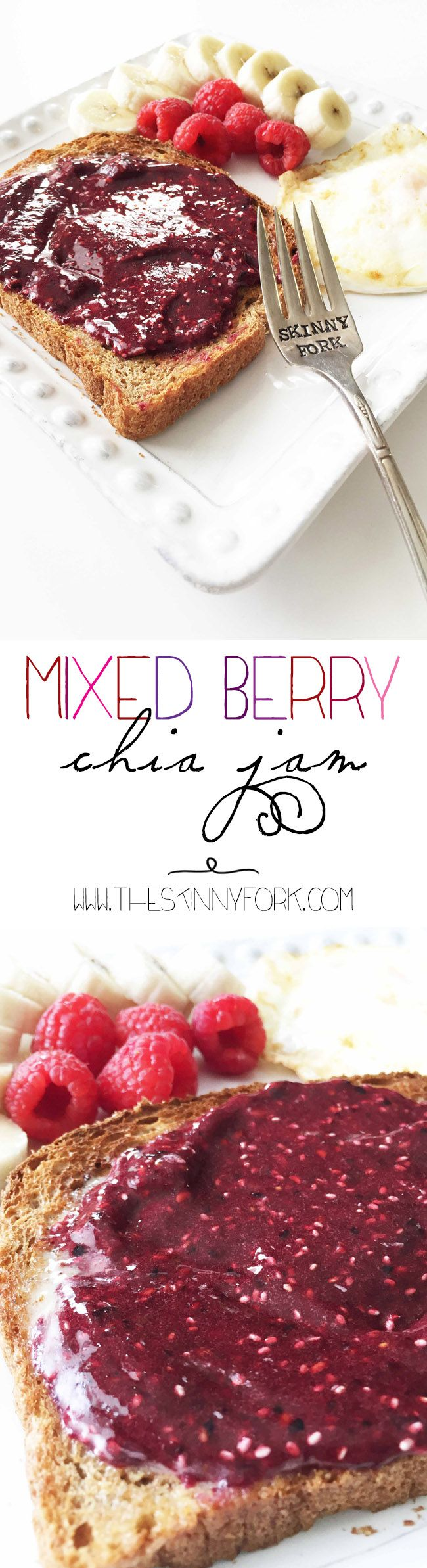 Are you excited for the Minions movie release? Make my Mixed Berry Chia Jam for your Minions movie night! It's gluten free, sugar free, pectin free, vegan, and super delicious! Plus, it's so easy the kids can help make it! TheSkinnyFork.com #MinionsMovieNight #Ad