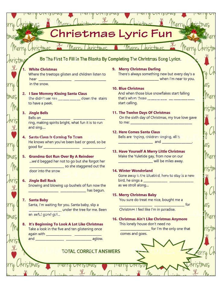 Christmas Song Game, Christmas Music Game, Christmas Carol Game, Printable Christmas Games, DIY ...