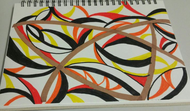 Created Saturday 13 May 2017. Felt pens on paper