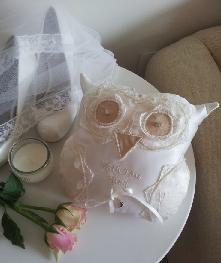 Handmade Owl ring cushion by Beautiful Unique