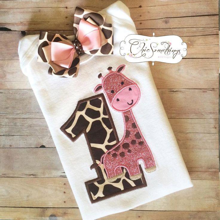 giraffe shirt, pink giraffe birthday shirt,pink giraffe tutu, giraffe shirt, giraffe birthday bow, pink giraffe shirt,first birthday giraffe by ChicSomethings on Etsy https://www.etsy.com/listing/241494147/giraffe-shirt-pink-giraffe-birthday
