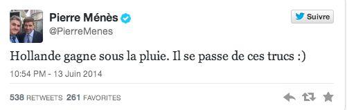 """Le Tweet présidentiel moqueur """"spécial Hollande"""" de Pierre Ménès - http://www.actusports.fr/105675/le-tweet-presidentiel-moqueur-special-hollande-de-pierre-menes/"""