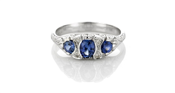 Victorian Ring with Sapphires. Michael Wilson Diamond Jewellers-Precious Coloured Stones