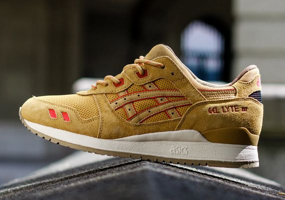 Asics Gel Lyte III – Gold Suede – Red