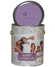 Pamper mom with this ultra luxe spa Goodie Tin. Best part is you can personalize it some of her favorite family photos.