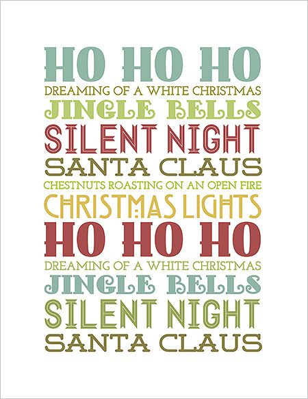 free christmas subway art printables | ... Nonsense & Other Junk » FREE! Christmas Printables Subway Art