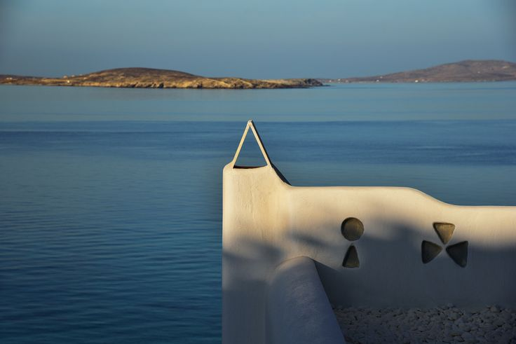 Mykonos Grand chimney during sunrise