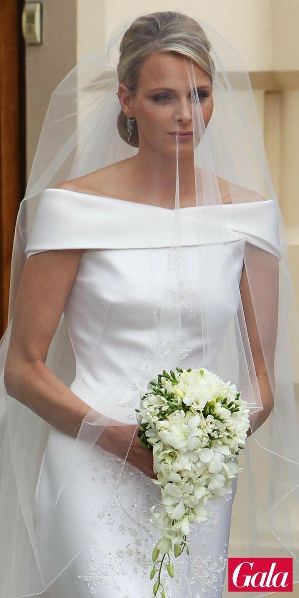 Schlichte Eleganz Brautfrisur Furstin Charlene Schlichte Eleganz